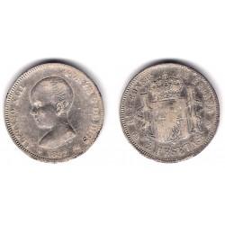 Alfonso XIII. 1892*(1---2). 2 Pesetas (BC) (Plata) Ceca de Madrid PG-M