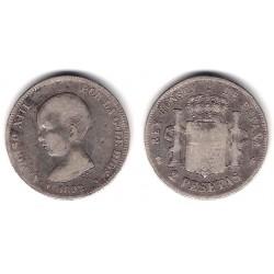 Alfonso XIII. 1892*(---92). 2 Pesetas (BC+) (Plata) Ceca de Madrid PG-M