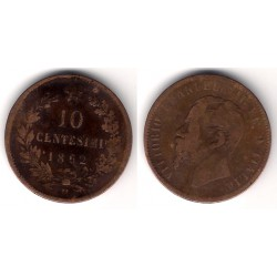 (11.1) Italia. 1862(M). 10 Centesimi (RC+)