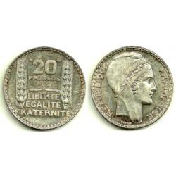 (879) Francia. 1934. 20 Francs (EBC) (Plata)
