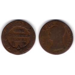 (640.1) Francia. 1799(AN 8). 5 Centimes (BC)