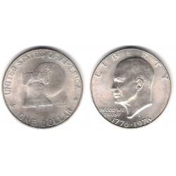 (206a) Estados Unidos de América. 1976(S). 1 Dollar (SC) (Plata)