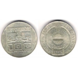 (2924) Austria. 1975. 100 Schillings (MBC) (Plata)