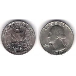 (A164a) Estados Unidos de América. 1980(P). Quarter Dollar (SC)