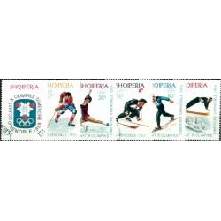 (1103 a 1108) Albania. 1967-68. Serie Completa. Olimpiada Grenoble (Usado)