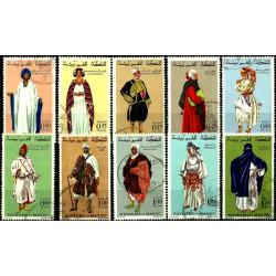 (198A a 206) Marruecos. 1968-74. Serie Completa. Costumbres Regionales (Usado)