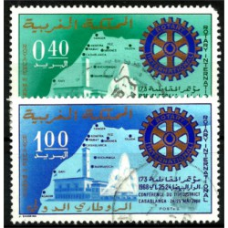 (193-194) Marruecos. 1968. Serie Completa. Mapa de Marruecos (Usado)