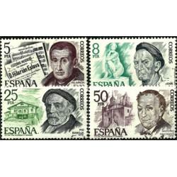 (2456 a 2459) 1978. Serie Completa. Personajes Españoles (Usado)