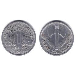 (902.1) Francia. 1942. 1 Franc (MBC)