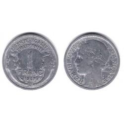 (885a.2) Francia.  1947(B). 1 Franc (MBC-)