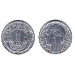 (885a.2) Francia.  1946(B). 1 Franc (MBC)