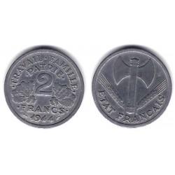 (904.1) Francia. 1944. 2 Francs (MBC-)