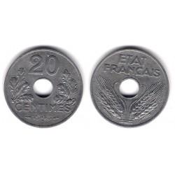 (900.1) Francia. 1943. 20 Centimes (BC+)