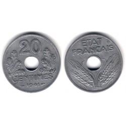 (900.1) Francia. 1941. 20 Centimes (MBC)