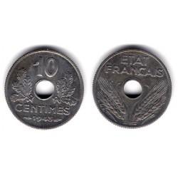 (903) Francia. 1943. 10 Centimes (MBC)