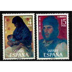 Sahara Español. 1972. Serie Completa. Dia del Sello (Nuevo)