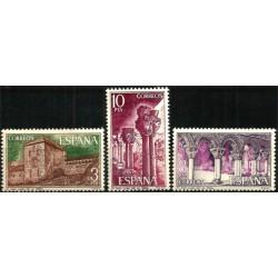 (2297 a 2299) 1975. Serie Completa. Monasterio San Juan (Nuevo)