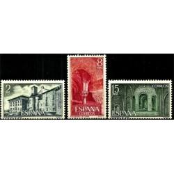 (2229 a 2231) 1974. Serie Completa. Monasterio de Leyre (Nuevo)