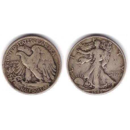 (142) Estados Unidos de América. 1945. Half Dollar (BC-) (Plata)