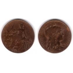 (843) Francia. 1912. 10 Centimes (RC)