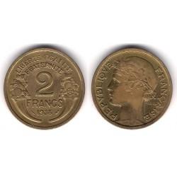 (886) Francia. 1938. 2 Francs (MBC)