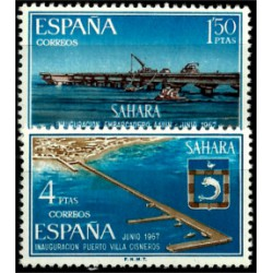 Sahara Español. 1967. Serie Completa. Infraestructuras (Nuevo)