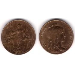 (843) Francia. 1911. 10 Centimes (MBC)