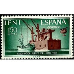 Sidi Ifni. 1967. 1,50 Pesetas. Inauguración Puerto Ifni (Nuevo)