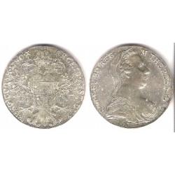 Austria. 1708. Thaler (SC) (Plata) Reacuñación