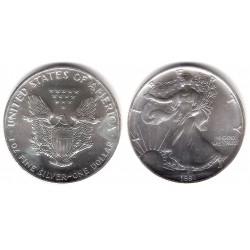 (273) Estados Unidos de América. 1991. 1 Dollar (SC) (Plata)