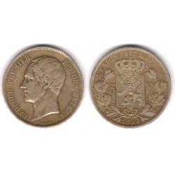 (17) Bélgica. 1853. 5 Francs (MBC) (Plata)