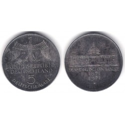 (128.1) Alemania. 1971(G). 5 Mark (MBC+) (Plata)