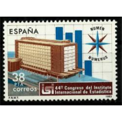 (2718) 1983. 38 Pesetas. 44º Congreso Inst. Int. Estadistica (Nuevo)