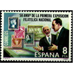 (2576) 1980. 8 Pesetas. 50 Aniv. Exposición Filatélica (Nuevo)