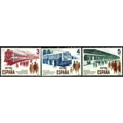(2560 a 2562) 1980. Serie Completa. Transportes Colectivos (Nuevo)