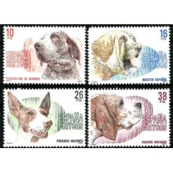 (2711 a 2714) 1983. Serie Completa. Perros de raza española (Nuevo)