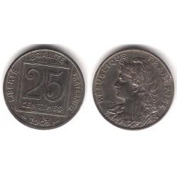 (855) Francia. 1903. 25 Centimes (MBC-)