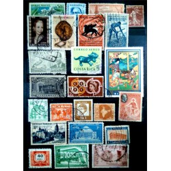 Lote de sellos de varios paises (24 uds)