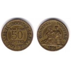 (884) Francia. 1924. 50 Centimes (BC)