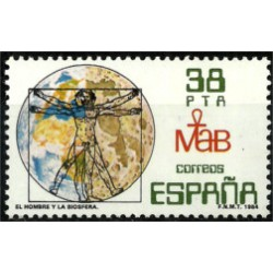 (2748) 1984. 38 Pesetas. El Hombre y la Biosfera (Nuevo)