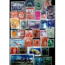 Lote de sellos de varios paises (33 uds)