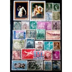 Lote de sellos de varios paises (29 uds)