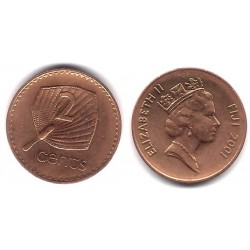 (50a) Islas Fiji. 2001. 2 Cents (SC)