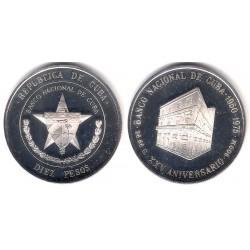 (37) Cuba. 1975. 10 Pesos (Proof) (Plata)