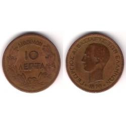(43) Grecia. 1870(BB). 10 Lepta (BC)