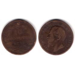 (11.5) Italia. 1866(OM). 10 Centesimi (RC+)