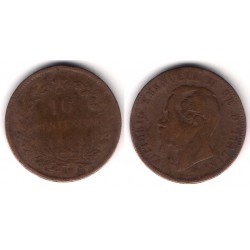 (11.3) Italia. 1866(H). 10 Centesimi (BC-)