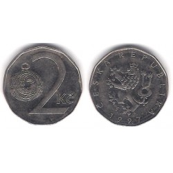 (9) República Checa. 1997. 2 Koruna (MBC)