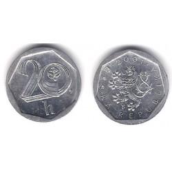 (2.3) República Checa. 2001. 20 Haleru (EBC+)