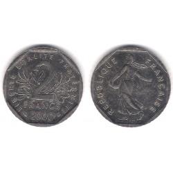 (942.1) Francia. 2000. 2 Francs (MBC+)